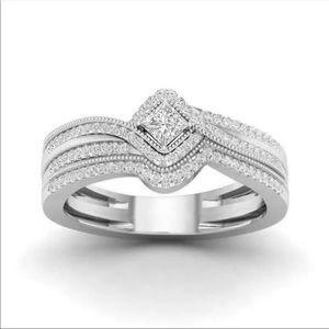 New Women's 925 Silver luxury Diamond Ring 💍